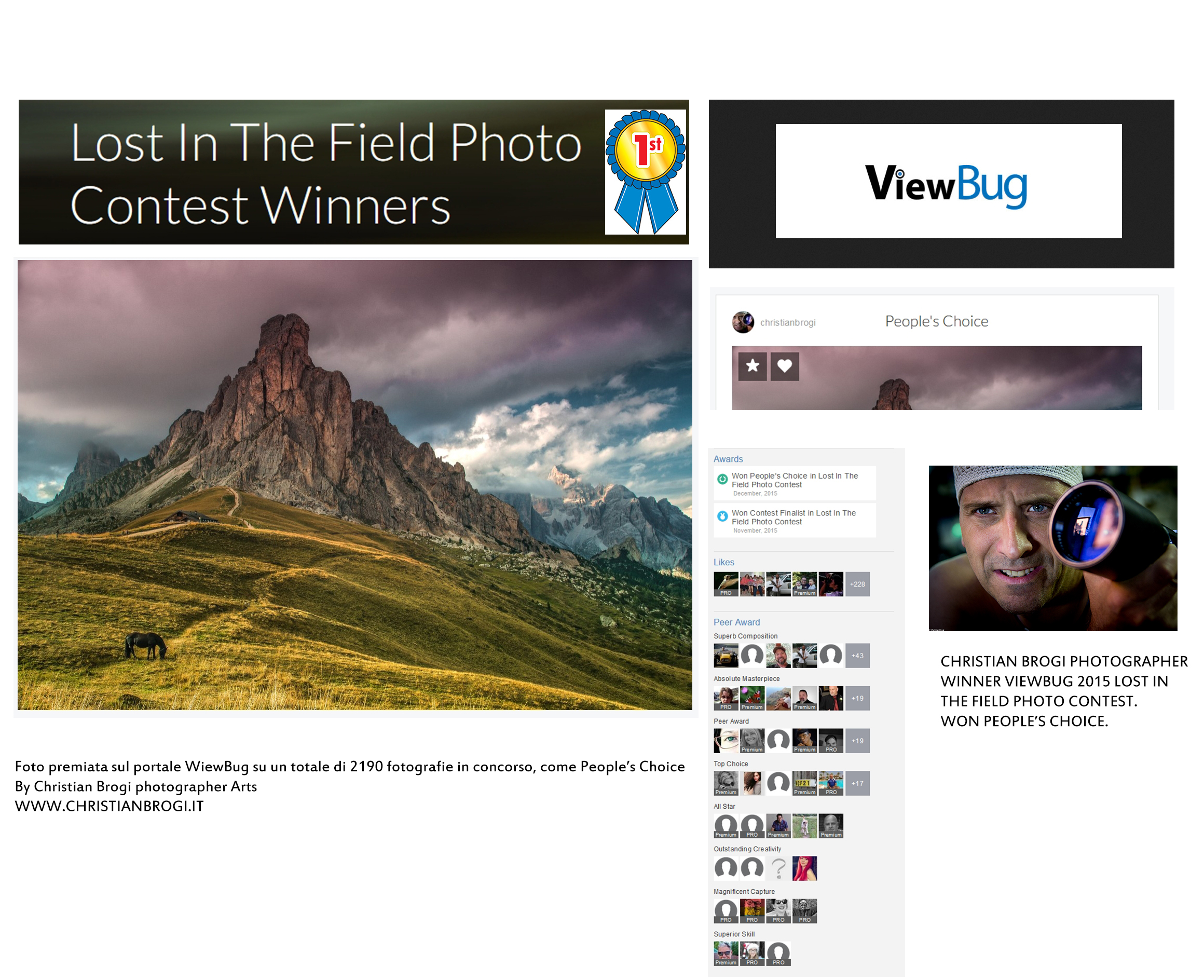 "Foto vincitrice su oltre 2000 partecipanti del contest ""Lost in the field"" 2015"