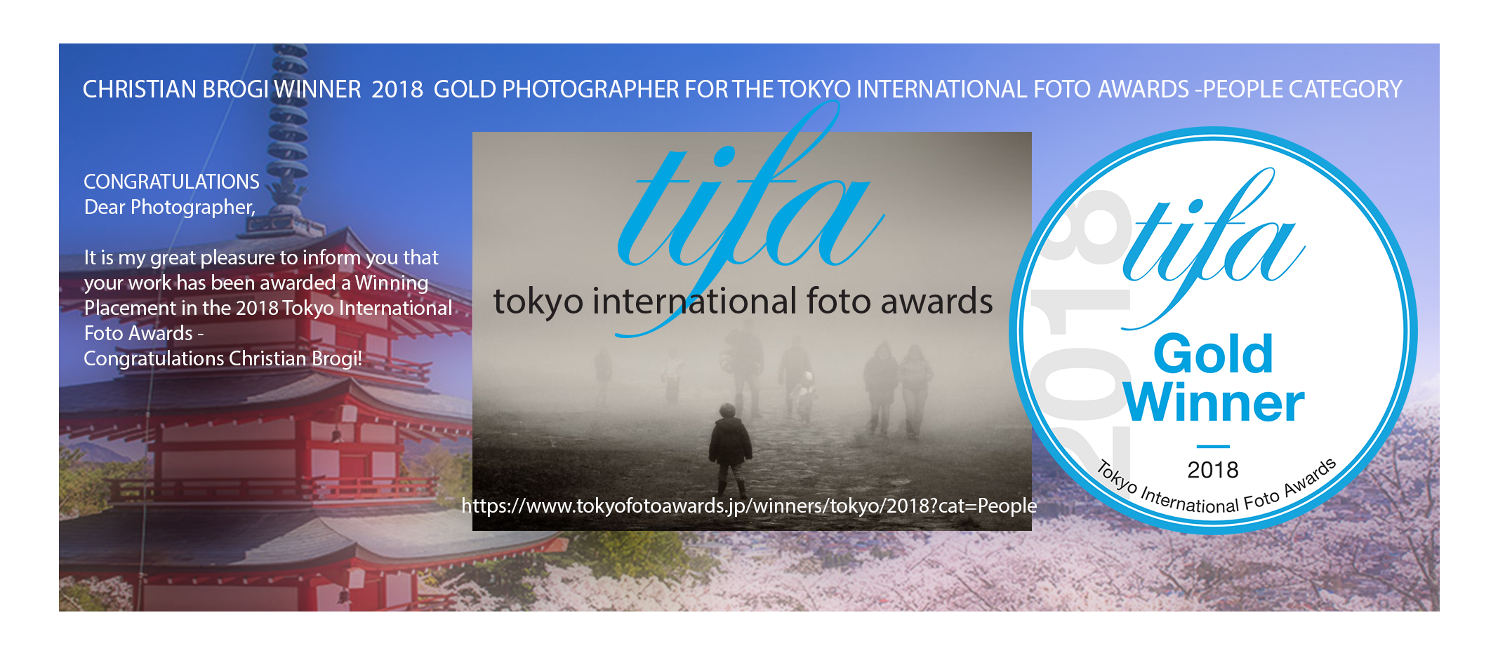 TOKYOFOTOAWARDS – WINNER GOLD Christian Brogi